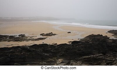 Misty morning Newquay Cornwall UK - Misty morning at Newquay...