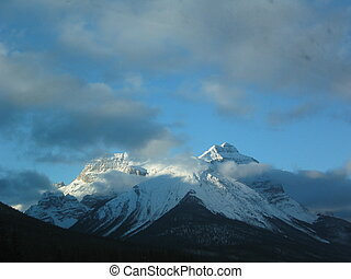 Misty Mountains in the Canadian Rockies.