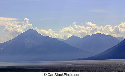 Misty Mountains - Misty mountains across Turnagain Arm along...