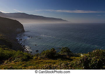 Misty Ocean view in Big Sur, California