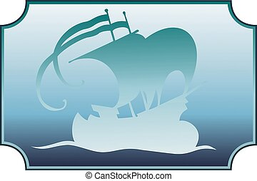 Misty Sailing Ship