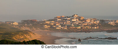 Misty sunset at Buffelsbaai