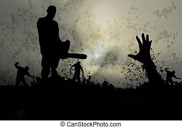 misty zombies 3 - survivor fighting zombie horde