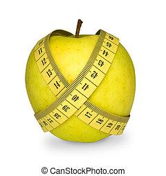 misura, mela, nastro