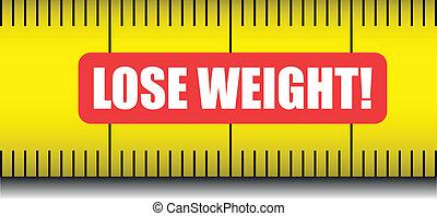 misura, nastro, perdere peso