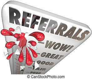 misurazione, clienti, referrals, affari, calibro,...