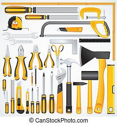misurazione, lavoro metallurgico, lavoro, carpenteria, ...