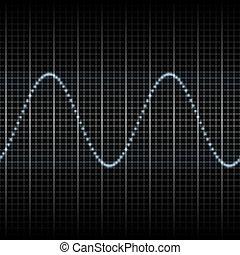 misurazione, mostra, onde