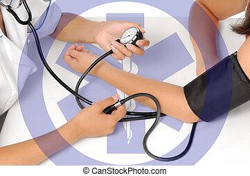 misurazione, pressione, sangue