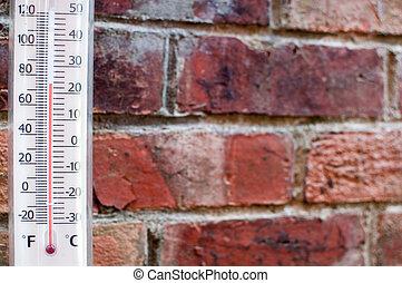 misurazione, thermometor, tempo caldo, estate