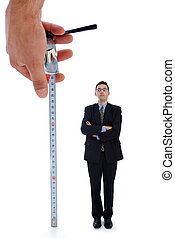 misurazione, uomini