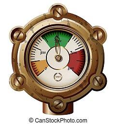 misurazione, vettore, congegno