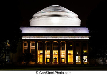 MIT Great Dome at night