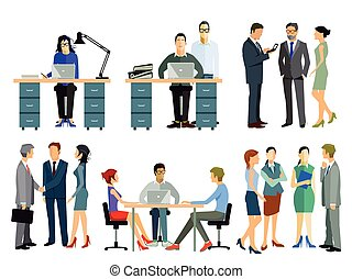 Mitarbeiter im Office - Persons and employees in the office ...