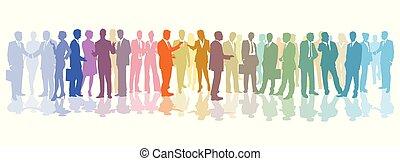 mitarbeiter, versammlung