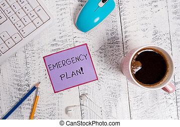 mitigate, begriff, notfall, text, schaden, handlungen, plan., bedeutung, potential, entwickelt, events., handschrift