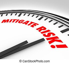 mitigate, risque, danger, horloge, réduire, danger, responsabilité, temps