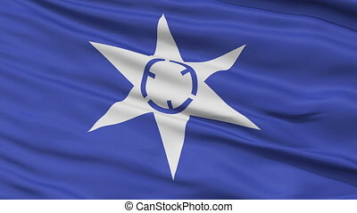 Mito Capital City Close Up Flag - Mito Capital City Flag,...