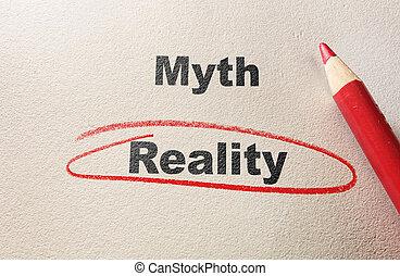 mito, contra, realidad