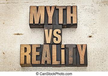 mito, contra, realidade