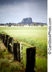 Mitre Rock, Australia - Mitre Rock stands alone behind a ...