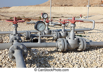 mitt, rörledning, olja, bahrain., öster