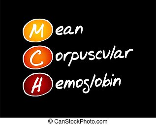 mittel, -, corpuscular, hämoglobin, akronym, mch