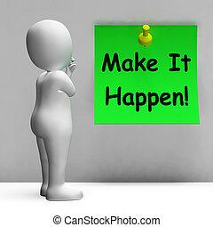 mittel, machen, ihm, merkzettel, nehmen, aktiv, happen