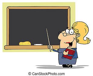 mittelalt, professor, weibliche , blond
