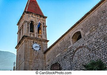 mittelalterlich, kirche, in, der, historisch, zentrieren, von, makarska, kroatien