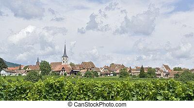 village named Mittelbergheim, a village of a region in France named Alsace