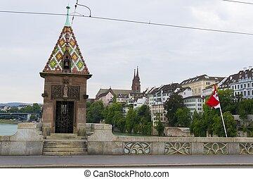 Mittlere brucke bridge, Basel, Switzerland