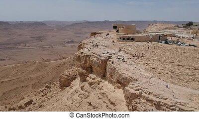Mitzpe Ramon outlook of Makhtesh Ramon canyon crater