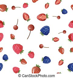 Mix berries seamless pattern.