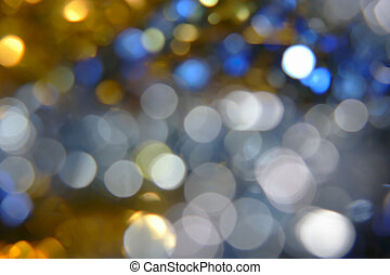 Mix color defocused bokeh lights, a lot of space for text.