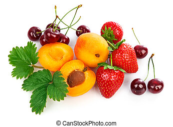 Mix fruits healthy eating berries apricot strawberries