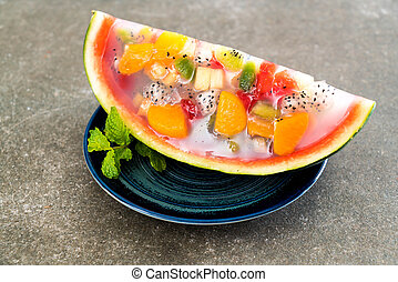 mix fruits jelly