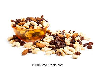 Mix nuts.