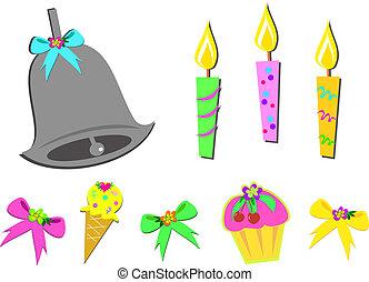 Mix of Birthday Items
