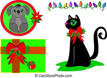 Mix of Christmas Koala, Gift, Light