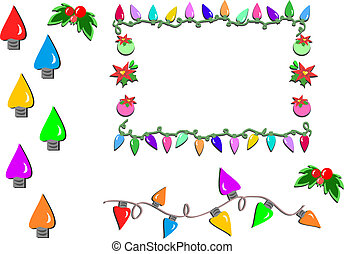 Here are Christmas Lights and Holly Flowers for your holiday projects.