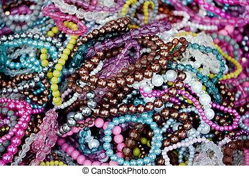 Mix of colorful bracelets - wonderful mix of colorful...