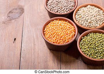 Mix of colorful lentil