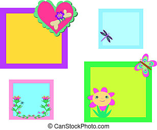 Mix of Colorful Nature Frames - Here are four Frames related...