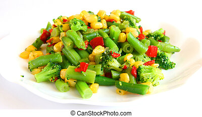 Mix of cooked vegetable