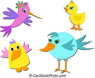 Mix of Cute Birds