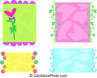 Here is a variety of colorful frames.