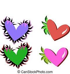 Mix of Decorative Hearts