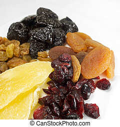 Mix of dehydrated food and fruits