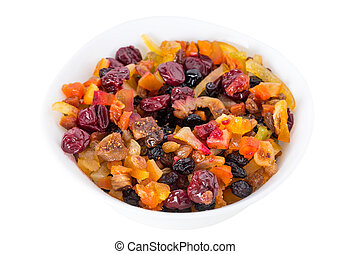 Mix of dried fruits.